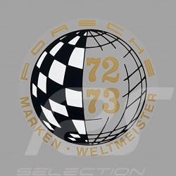Aufkleber Porsche Marken Weltmeister 73-75 für die Innenseite von Gläsern