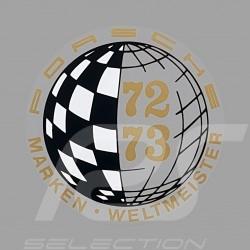 Autocollant Sticker Aufkleber Porsche Marken Weltmeister 73-75 pour l'intérieur de la vitre