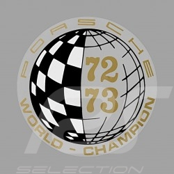 Aufkleber Porsche World Champion 73-75 für die Innenseite von Gläsern