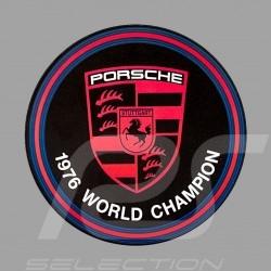 Aufkleber Porsche 1976 World Champion für die Innenseite von Gläsern