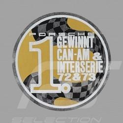 Autocollant Sticker Aufkleber Porsche Gewinnt Can-Am & Interseries 72-73 pour l'intérieur de la vitre