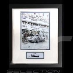 Porsche 550 A RS n° 25 24h du Mans 1958 cadre bois alu wood frame noir blck schwarzRahmen Uli Ehret