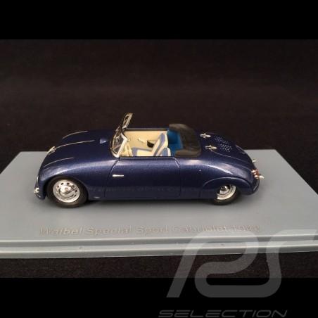 Porsche Waibel Special Sport Cabriolet 1948 blue 1/43 Neo NEO46191
