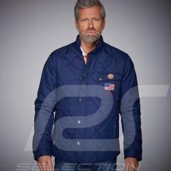 Veste Gulf Steve McQueen matelassée bleu marine Jacket Jacke homme