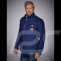 Gulf Jacket Steve McQueen quilted navy blue - men