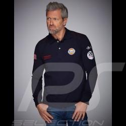 Polo Gulf Racing Steve McQueen Le Mans n° 50 Manches longues Bleu marine - homme
