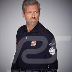 Gulf Polo Long sleeves Racing Steve McQueen Le Mans n° 50 Navy blue - men