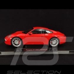 Porsche 911 Carrera S type 991 2012 rouge Indien 1/18 Welly 18047W