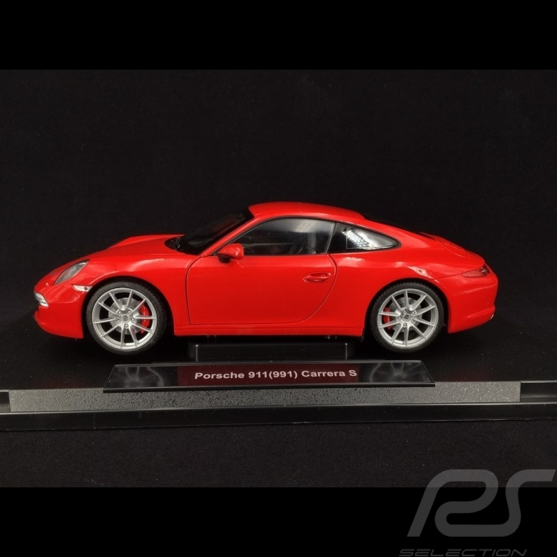 Porsche 911 Carrera S type 991 2012 Guards red 1/18 Welly 18047W