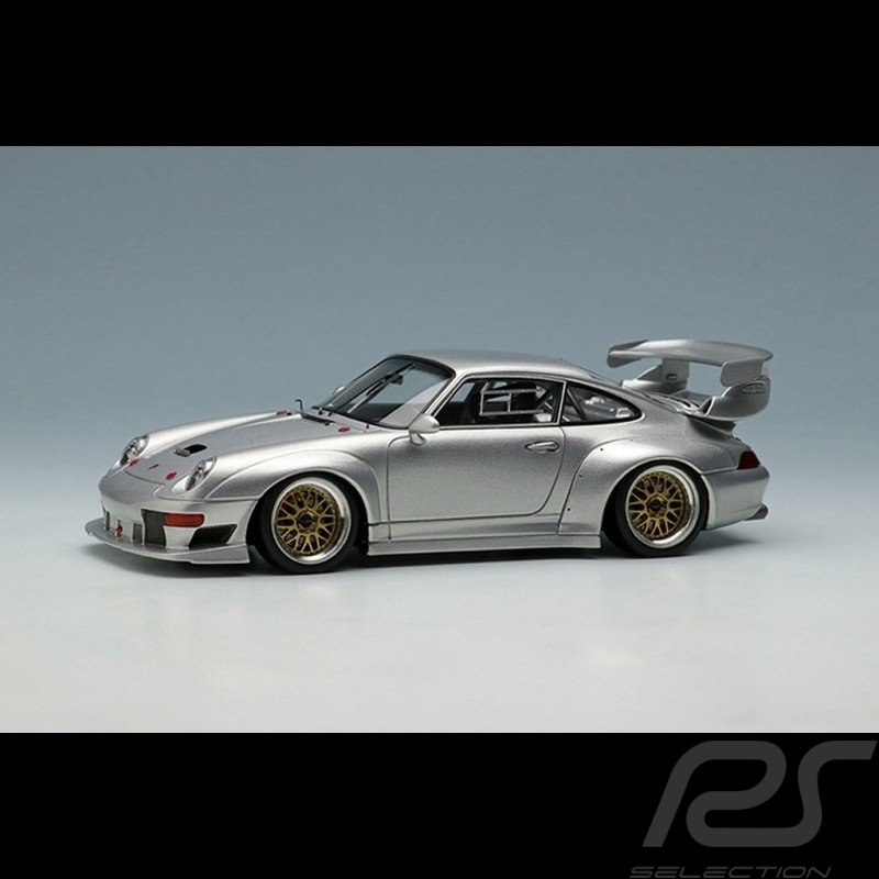 Porsche 911 GT2 EVO type 993 1996 silver 1/43 Make Up Vision VM130B