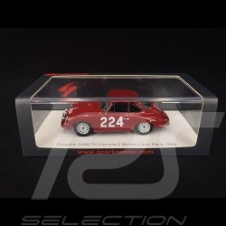 Porsche 356B T6 Carrera 2 n° 224 Rally Monté Carlo 1964 1/43 Spark S6601