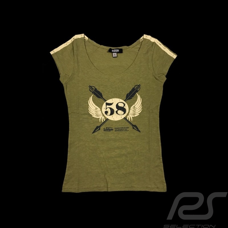 58 Staff T-shirt Vintage design kaki - women