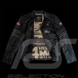 Veste Jacket Jacke cuir leather leder 24h Le Mans 66 Mulsanne Noir - homme