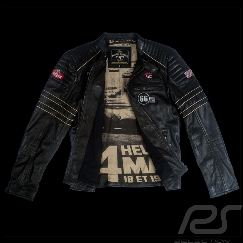 Leather jacket 24h Le Mans 66 Mulsanne Black - men