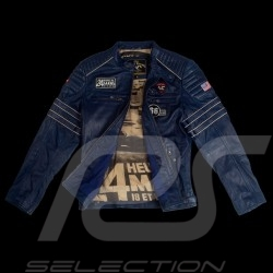 Leather jacket 24h Le Mans 66 Mulsanne Royal blue - men