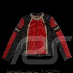 Leather jacket 24h Le Mans 66 Firestarter red / black / beige - lady