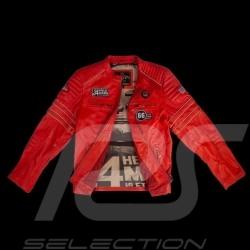 Veste Jacket Jacke cuirleather Leder 24h Le Mans 66 Mulsanne Rouge - homme