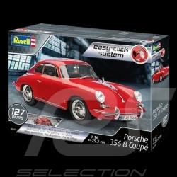 Maquette montage sans colle Porsche 356 B 1959 rouge 1/16 Revell 07679 kit glue-free kleberfreie
