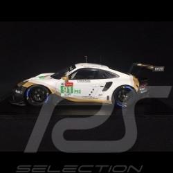 Porsche 911 RSR type 991 n° 91 2ème LMGTE Pro Class Le Mans 2019 1/18 Spark 18S434