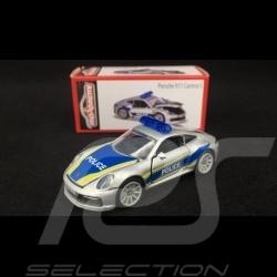 """Porsche 911 Carrera S type 991 """"Police"""" 1/57 Majorette 212053153Q01"""