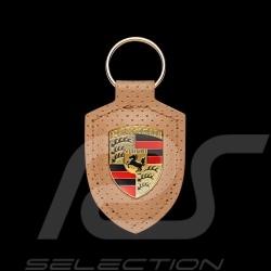 Porsche crest Heritage keyring perforated beige WAP0500900LHRT