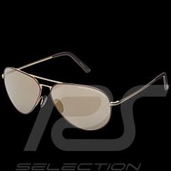 Lunettes de soleil Porsche Heritage monture dorée - bordeaux / verres dorés WAP0785080LHRT - mixte sunglasses Sonnenbrille