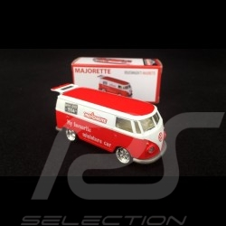 VW Combi Delivery Truck 1/64 Red / White Majorette 212052016