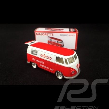 VW Combi Delivery Truck 1/64 Red / White Majorette 212052016