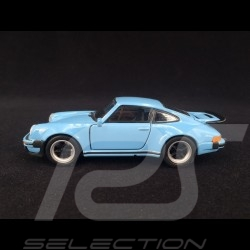 Porsche 911 Turbo 3.0 1975 Gulf blue pull back toy Welly
