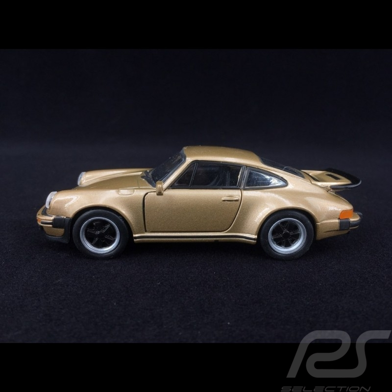 Porsche 911 Turbo 3.0 1975 or jouet à friction pull back toy Spielzeug Reibung Welly