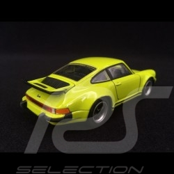 Porsche 911 Turbo 3.0 1975 light green pull back toy Welly