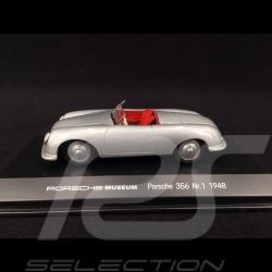 Porsche 356 n° 1 8 Juni 1948 silbergrau 1/43 Welly MAP01935613