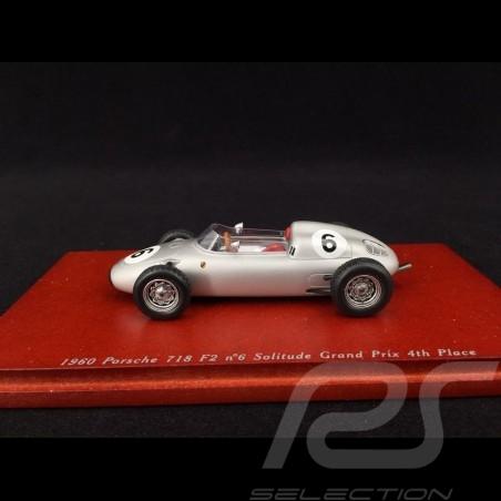 Porsche 718 F2 n° 6 1960 4th Solitude Grand Prix 1/43 TrueScale TSM114310