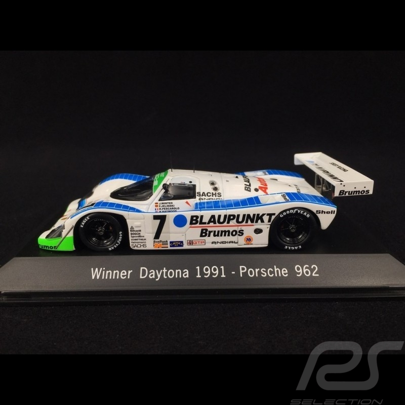 Porsche 962 Blaupunkt Vainqueur Winner Sieger Daytona 1991 n° 7 1/43 Spark MAP02029114
