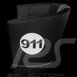 Tub chair Racing Inside n° 911 black / white / pépita fabric