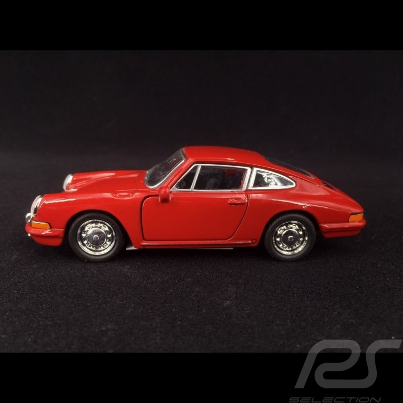 Porsche 911 1965 pull back toy Welly Signal red MAP01026519