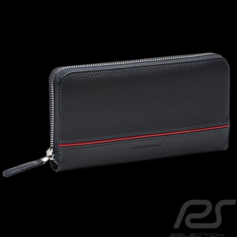 Porsche wallet money holder Heritage Charcoal grey leather WAP0300340LHRT