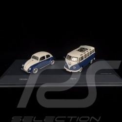 Set VW Coccinelle Käfer Beetle / VW Combi Bulli T1 Samba 1/43 Schuco 450269300