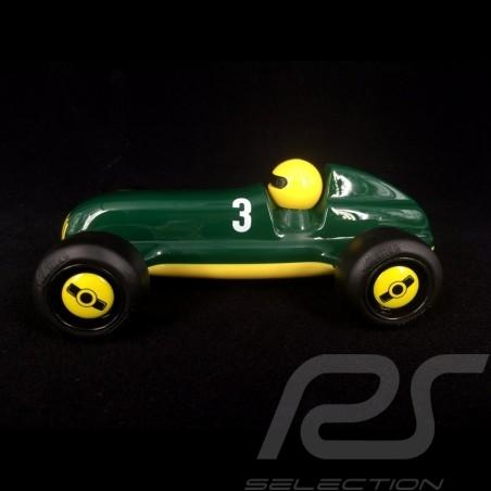 Vintage Hölzerner Rennwagen für Kinder Grün / Gelb Holzauto Schuco 450987300