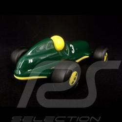 Vintage wooden racing car for children Green / Yellow Schuco 450987300