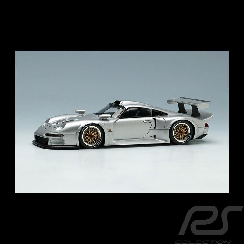 Porsche 911 GT1 1996 Silver Grey 1/43 Make Up Eidolon EM328D