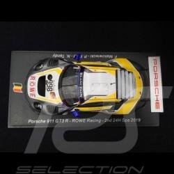 Porsche 911 GT3 R type 991 ROWE Racing nr 998 Spa 2019 1/43 SPARK SB252