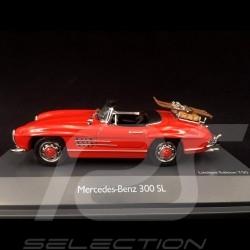 Mercedes-Benz 300 SL 1954 Rouge avec porte-skis 1/43 Schuco 450268900
