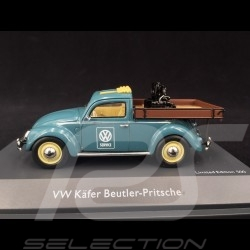 Volkswagen VW Cox Beutler-Pritsche VW Service avec moteur bleu 1/43 Schuco 450911500