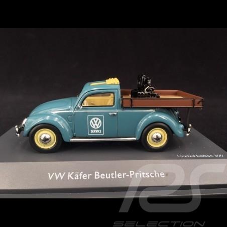 Volkswagen VW Käfer Beutler-Pritsche VW Service mit Motor blau 1/43 Schuco 450911500