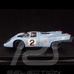 Porsche 917K Gulf N° 2 Vainqueur Daytona Winner Sieger 1970 1/18 Universal Hobbies 754299