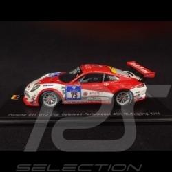 Porsche 911 type 991 GT3 Cup n° 75 GetSpeed Performance Nürburgring 2015 1/43 Spark SG203