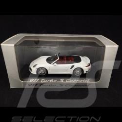 Porsche 991 Turbo S Cabriolet white 1/43 Minichamps WAP0203110E