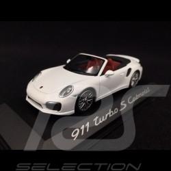 Porsche 911 type 991 Turbo S Cabriolet 2014 blanche 1/43 Minichamps WAP0203110E