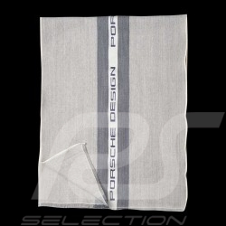 Porsche Design Scarf Formal striped Grey Wool / Cotton / Silk Porsche Design 4046901923242